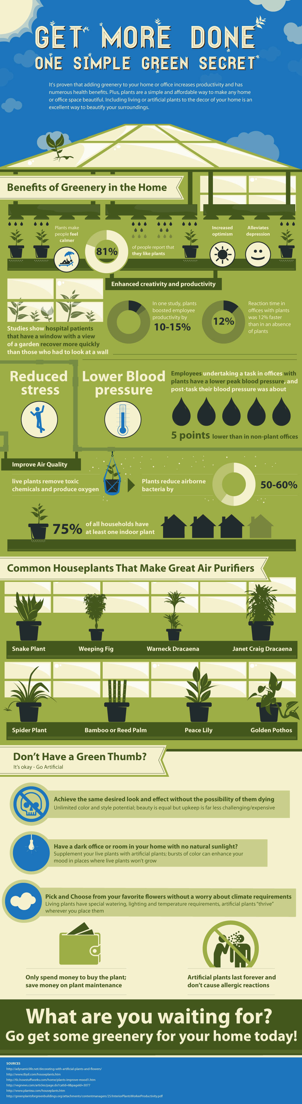 Plants in the Home - Artificial Plants & Trees