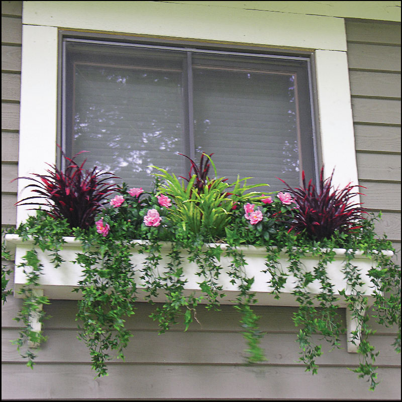 how to plant a window box any filling window boxes with artificial outdoor plants