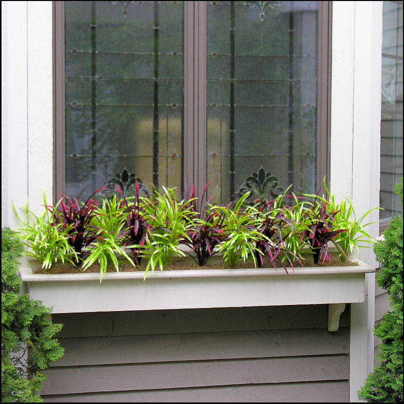Filling Window Boxes With Artificial Outdoor Plants Artificial Plants And Trees