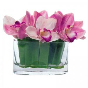 Cymbidium Orchids in Acrylic Water