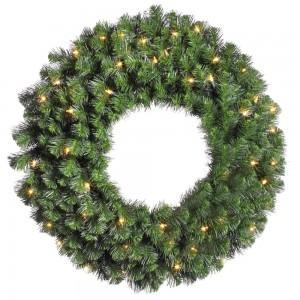 Douglas Fir Pre-Lit Wreath