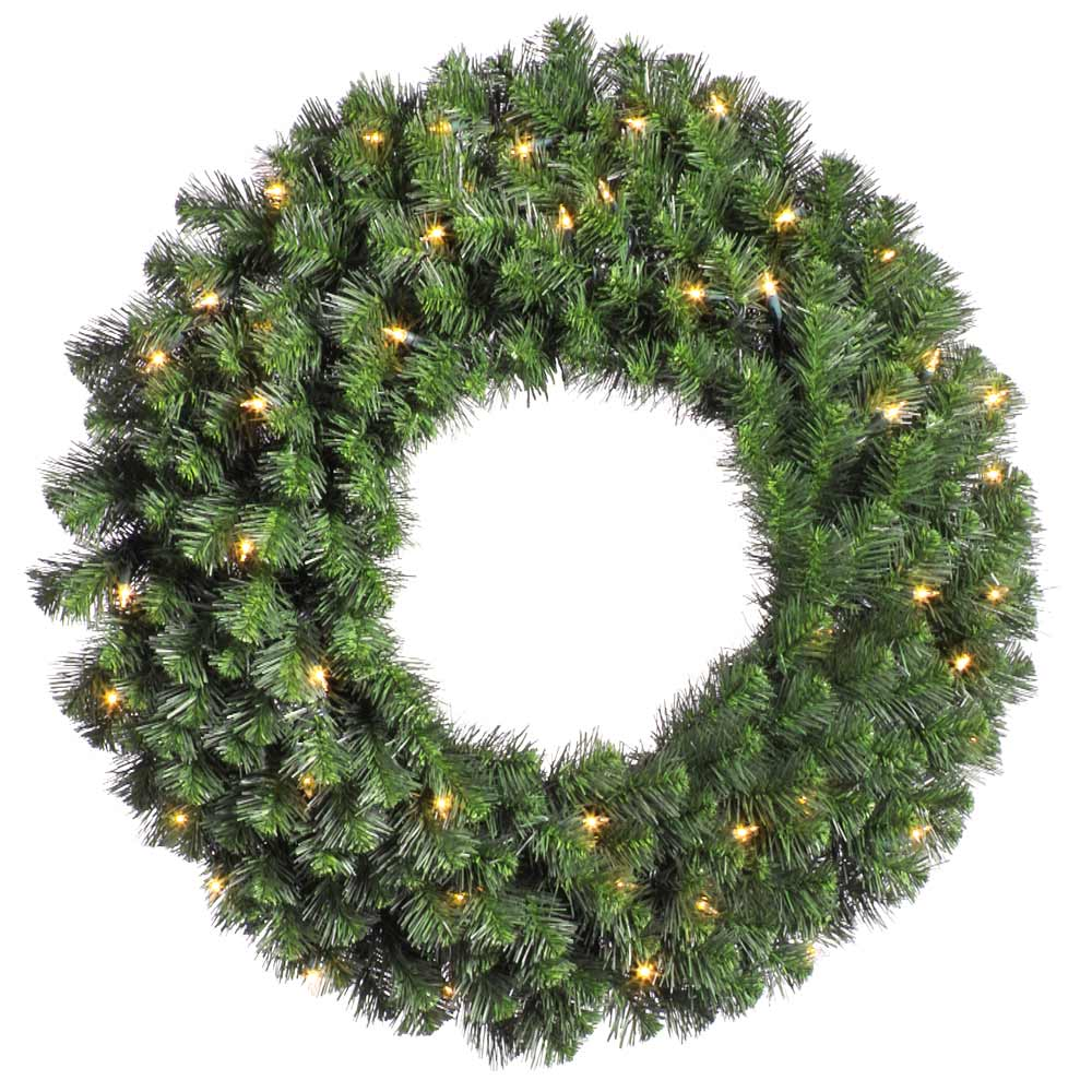 douglas fir pre lit wreath - How To Decorate Artificial Christmas Wreath