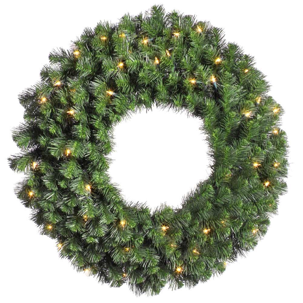 Douglas Fir Pre Lit Wreath