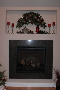 Modern Mantle Alternatives with Christmas Swags