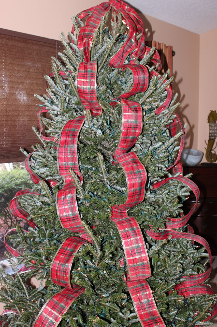 How To Decorate A Christmas Tree Professionally With Ribbon.Ribbon Christmas Tree Decorations