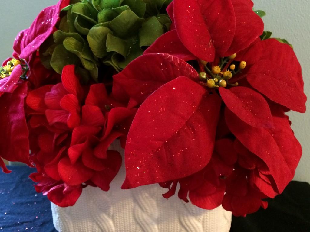 Holiday Hydrangea Arrangement