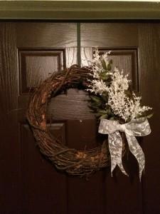 January Wreath DIY