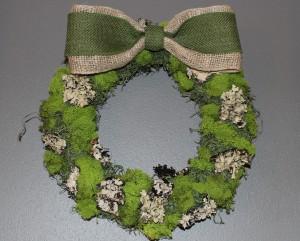 April Wreath DIY: Moss Covered Wreath