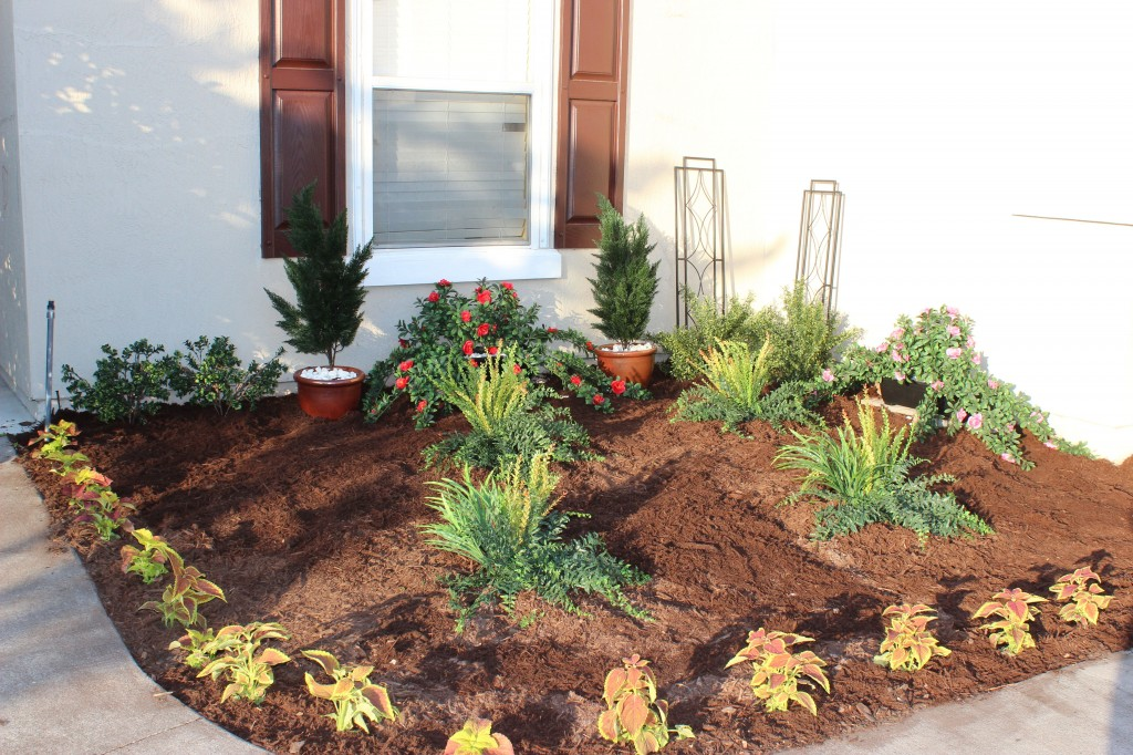 planting artificial plants outdoors