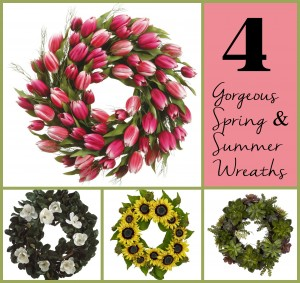 4 Gorgeous Spring and Summer Wreaths