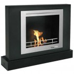 Vioflame Black Convection Ethanol Fireplace