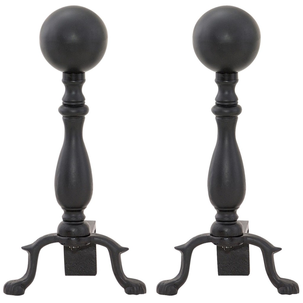 Black Fireplace Ball Stand