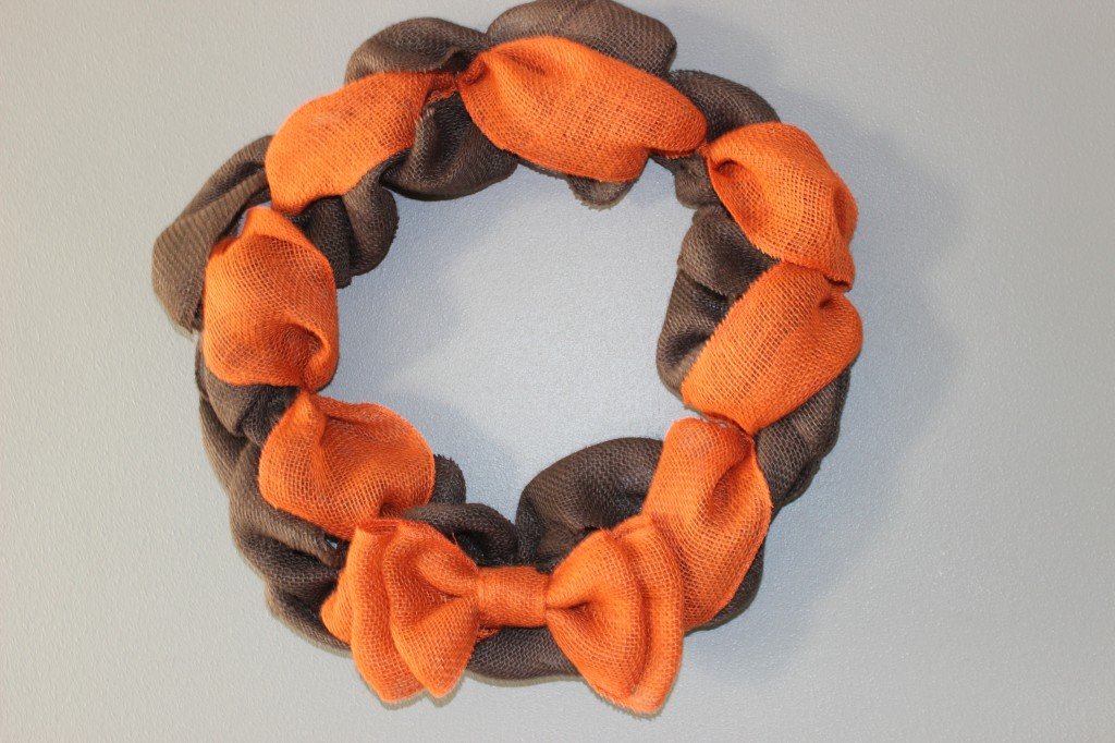 October Burlap Wreath