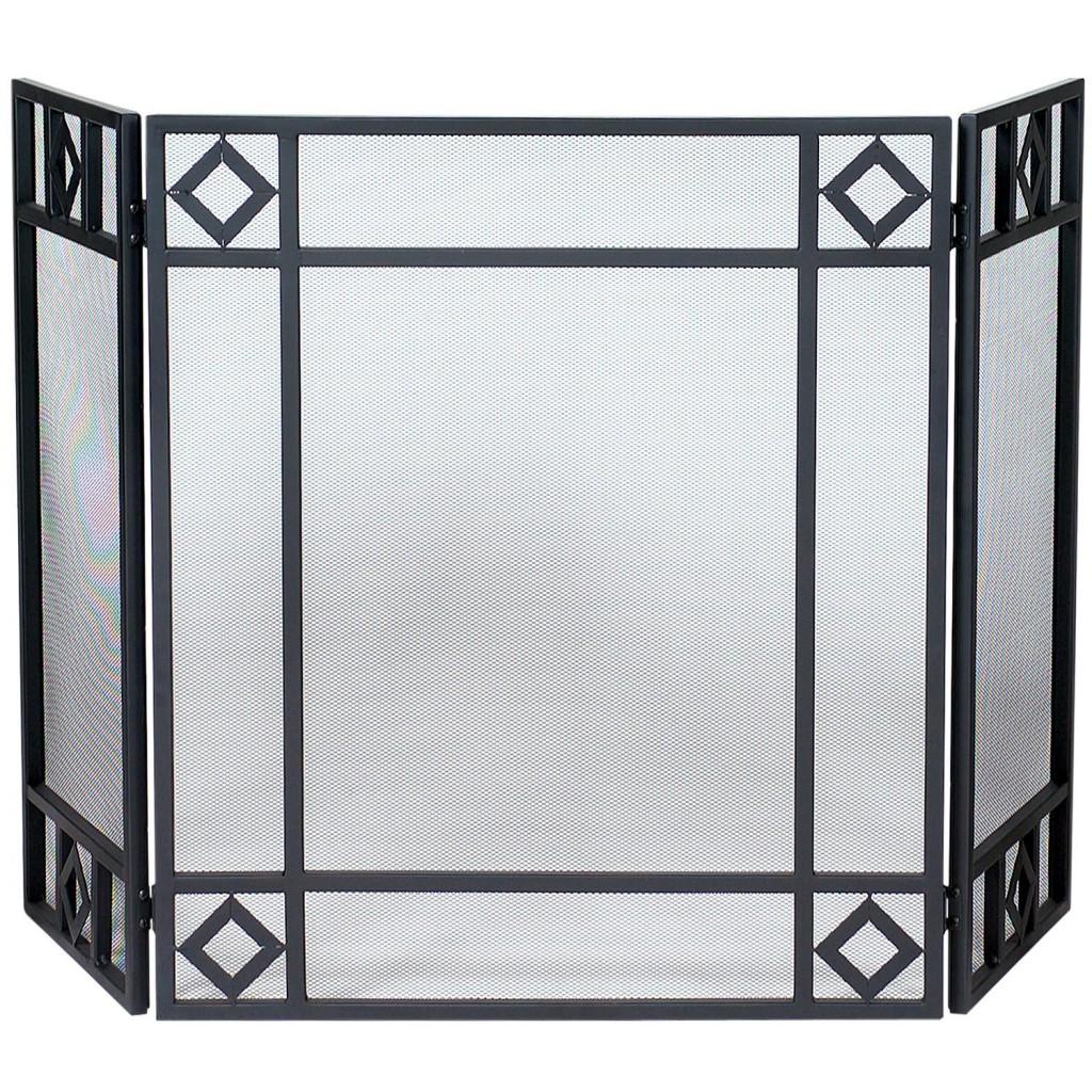 Wrought Iron Screen with Diamond Design