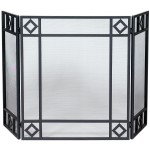 Wrought Iron Screen with Diamond Design