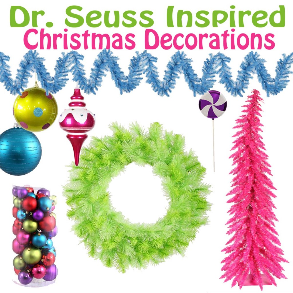 dr seuss inspired christmas decorations