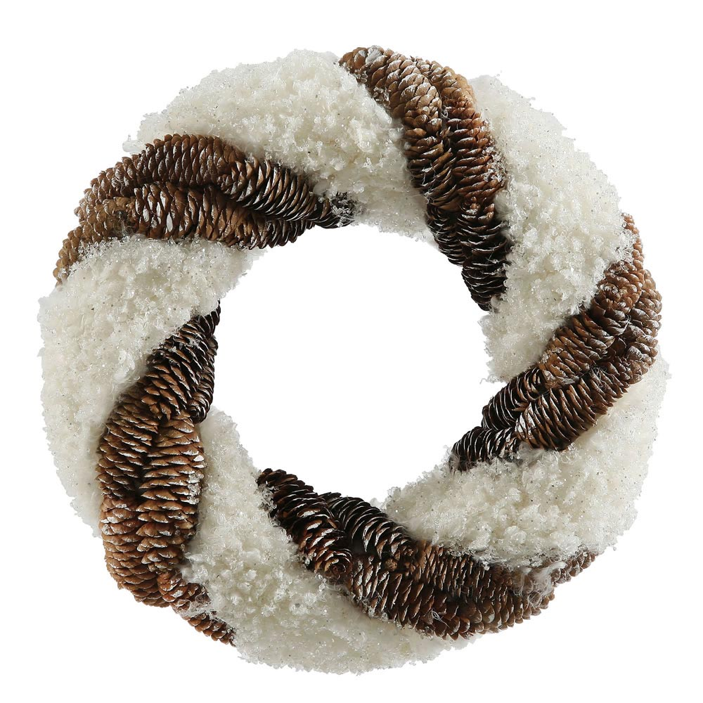 Snow and Pinecone Wreath