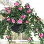 Artificial Azalea Hanging Basket
