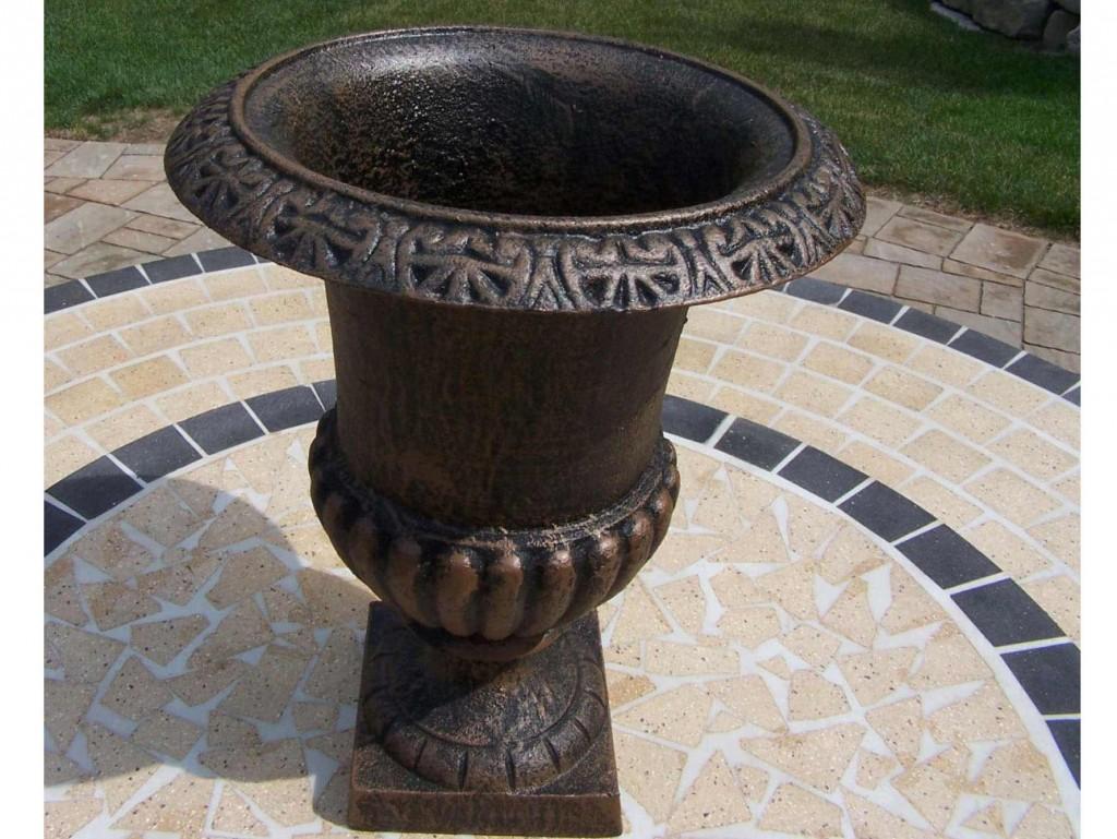 Cast Iron Roman Urn