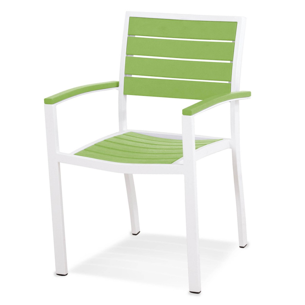 Polywood Euro Dining Arm Chair - Lime