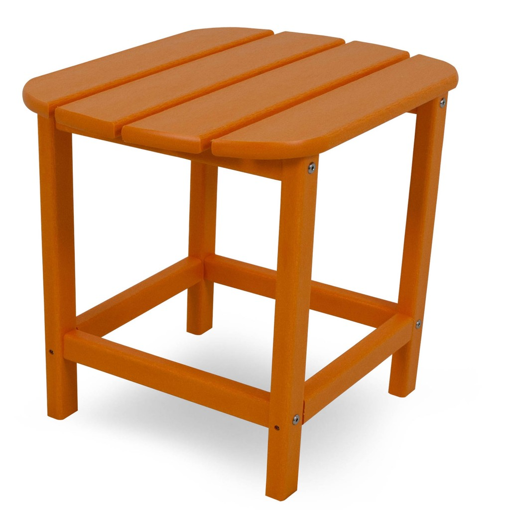Polywood South Beach Side Table - Tangerine
