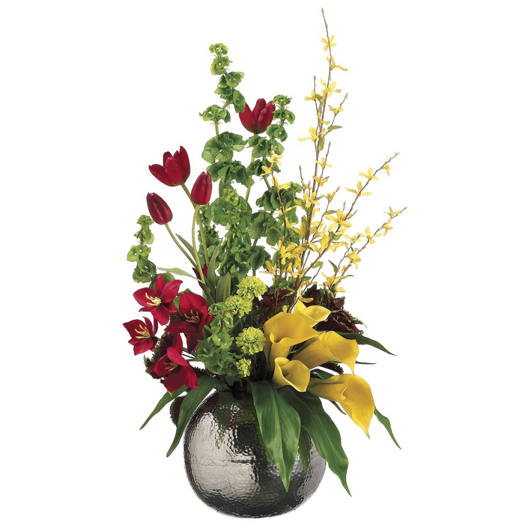 Artificial Spring Arrangements : Tulip and Calla Lily Arrangement 1024x1024 from www.artificialplantsandtrees.com size 1024 x 1024 jpeg 149kB