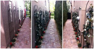 Featured: Artificial Plants Decorating a Walkway
