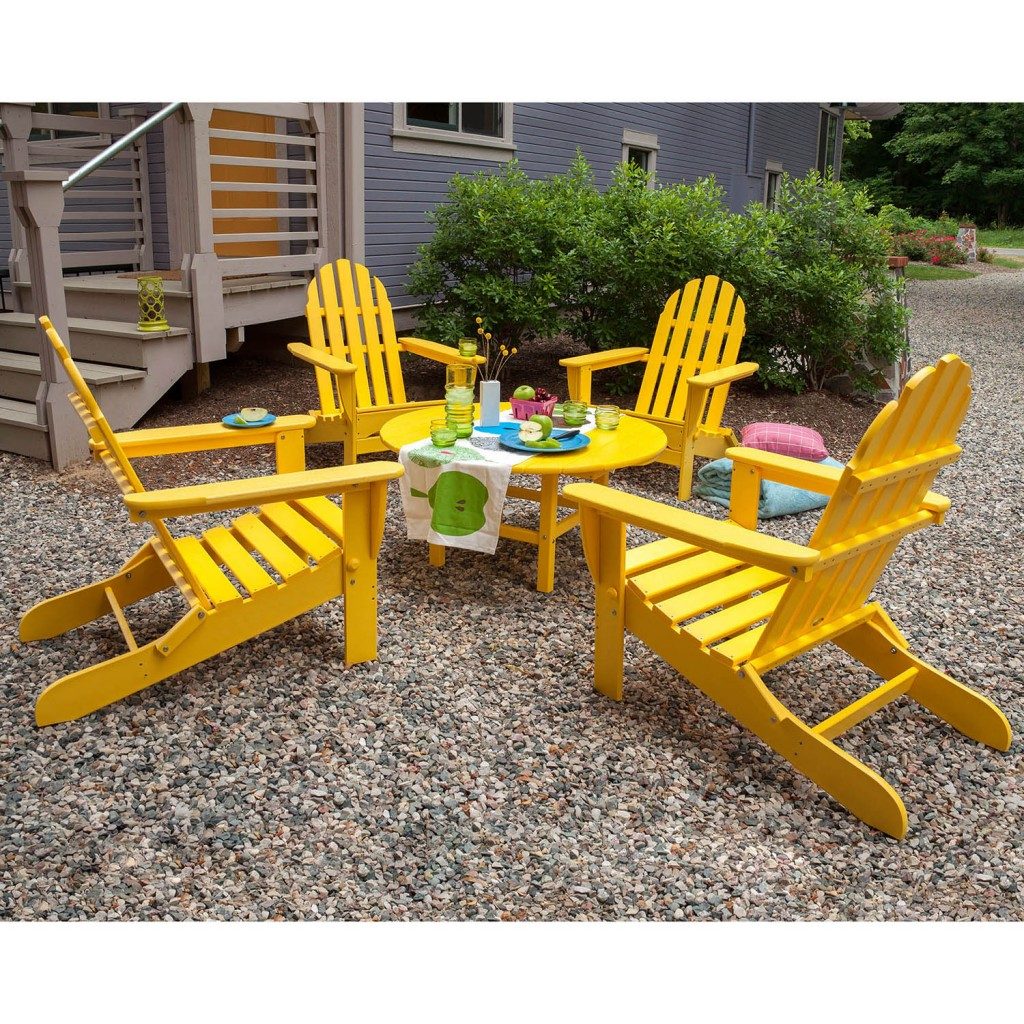 Classic Folding Adirondack Conversation Set
