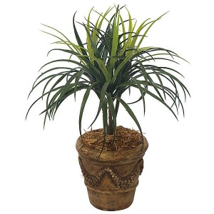 22-Inch Artificial Outdoor Liriope Tree