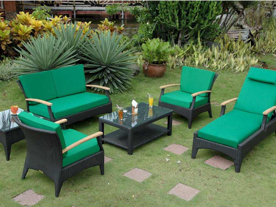 Anderson Rattan Seating Area
