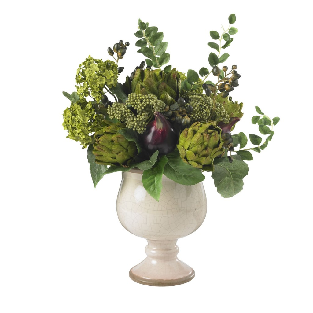 Artichoke and Hydrangea Silk Arrangement