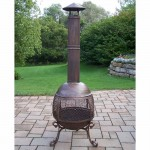 Bronze Aluminum Chimenea