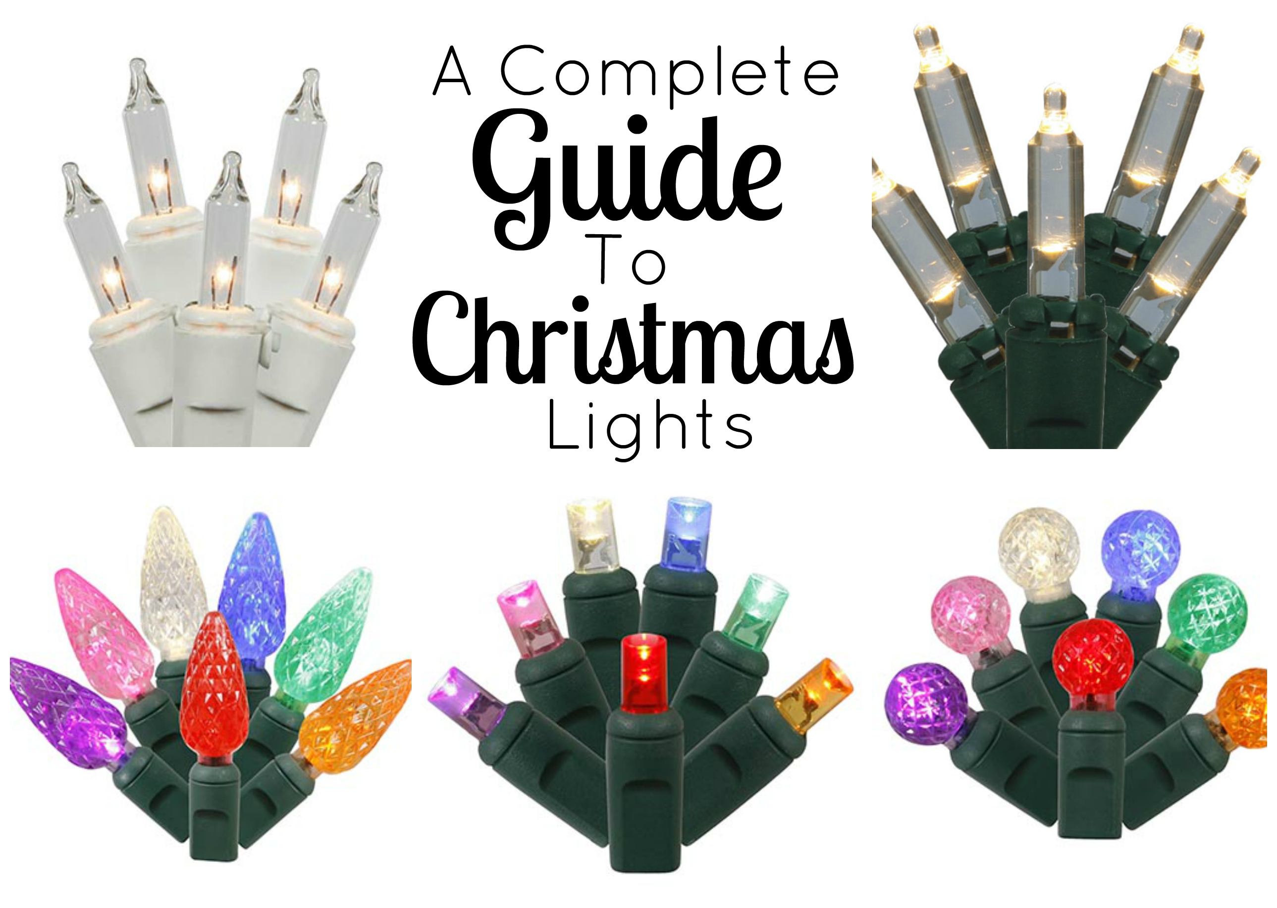 Mini lights are one of the most popular varieties of Christmas lights