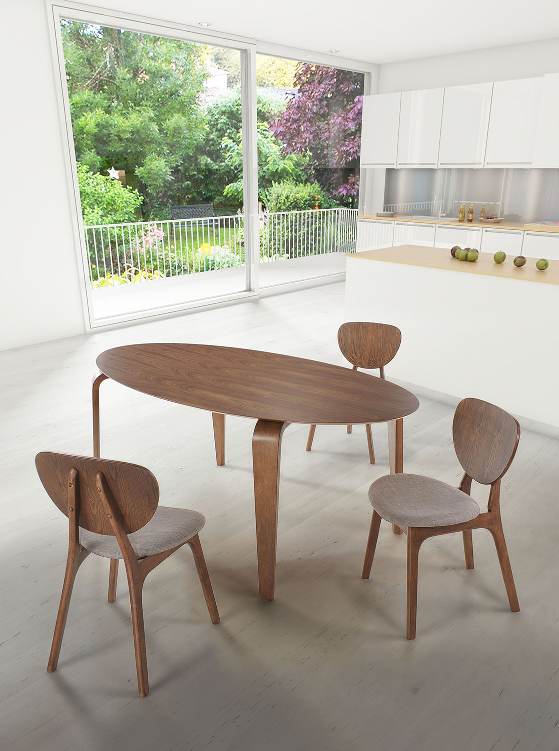 Mid century modern dining room furniture for Dining room furniture modern