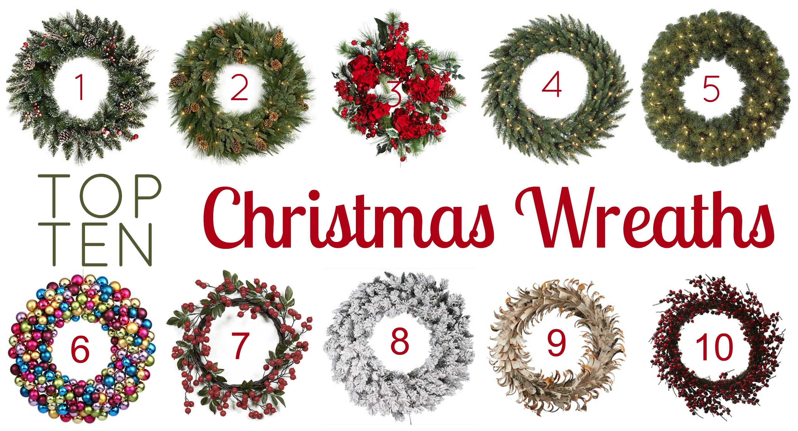top 10 christmas wreaths