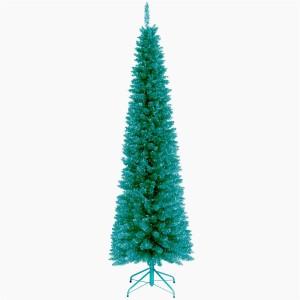 Turquoise Tinsel Tree