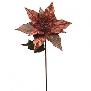 Copper Poinsettia Stem