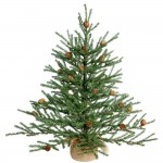 2' Carmel Christmas Trees with Cones