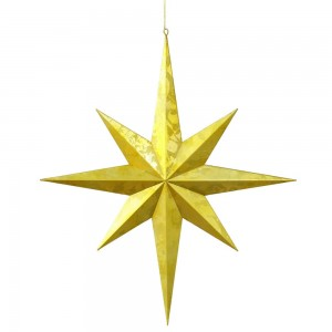 23.5 Inch Gold Foil Christmas Star