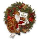 24-Inch Wreath with Santa Figurine