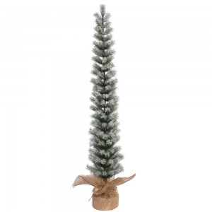 4-foot Frosted Narrow Slim Pine Tree