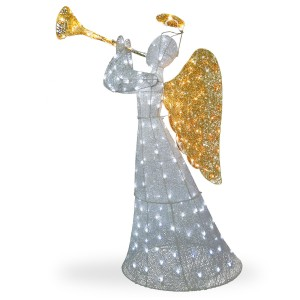 60-Inch Crystal Angel Figurine
