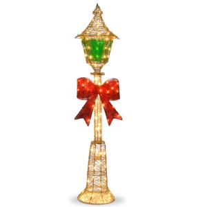 60-Inch Gold Wire lamp Post