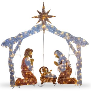 72-Inch Crystal Nativity