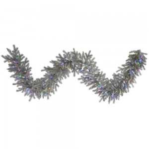 9-Foot Frosted Sable Pine Garland