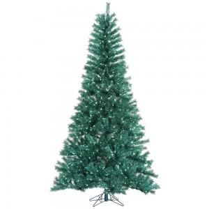 Aqua Tinsel Tree