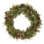 Wreath with Berries and Pinecones