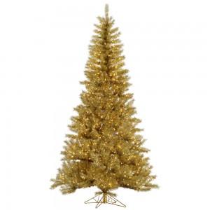 Gold:Silver Tinsel Tree