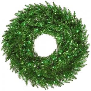 Green Tinsel Wreath