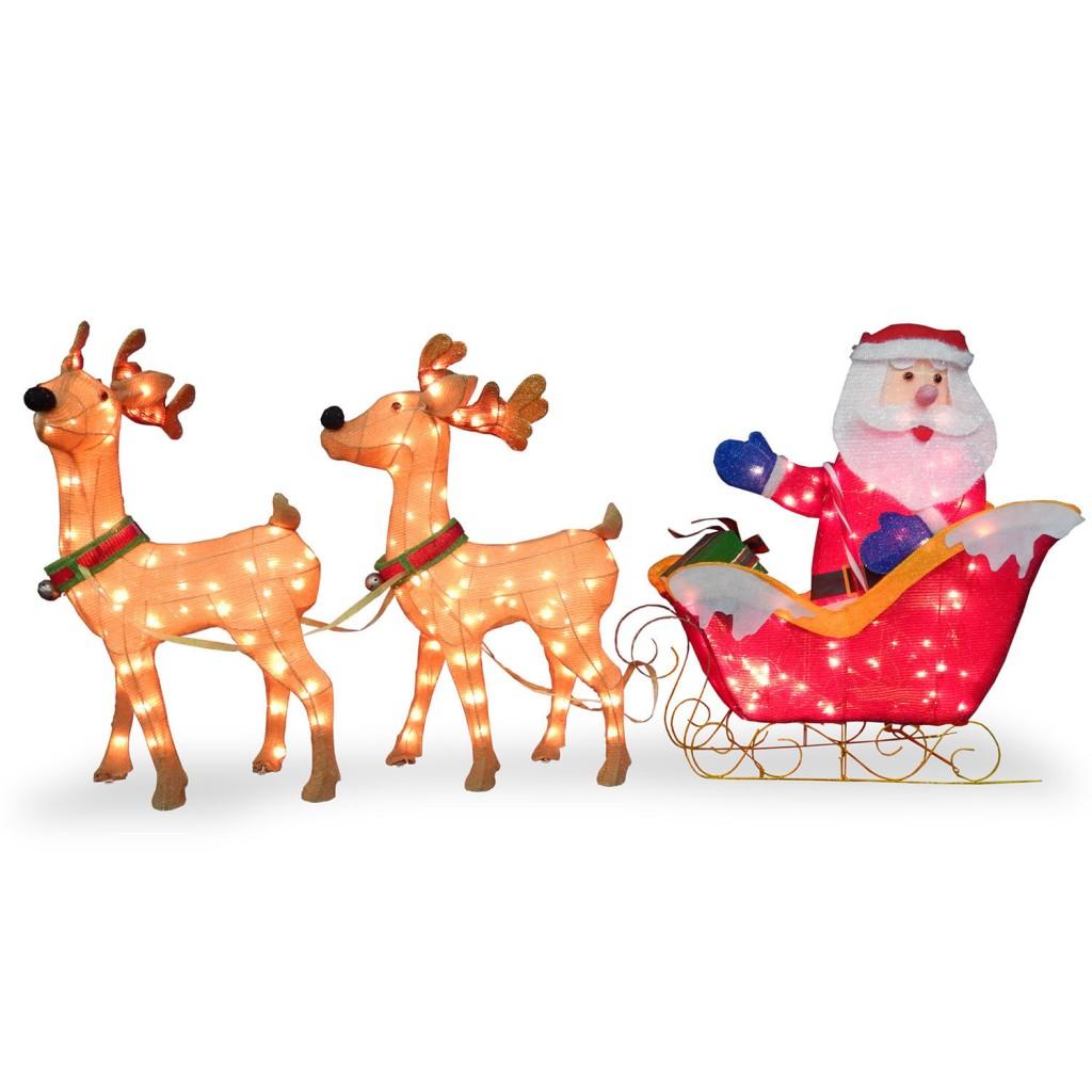 Santa Sleigh with 2 Deer
